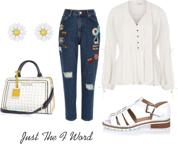 fun casual white shirt look