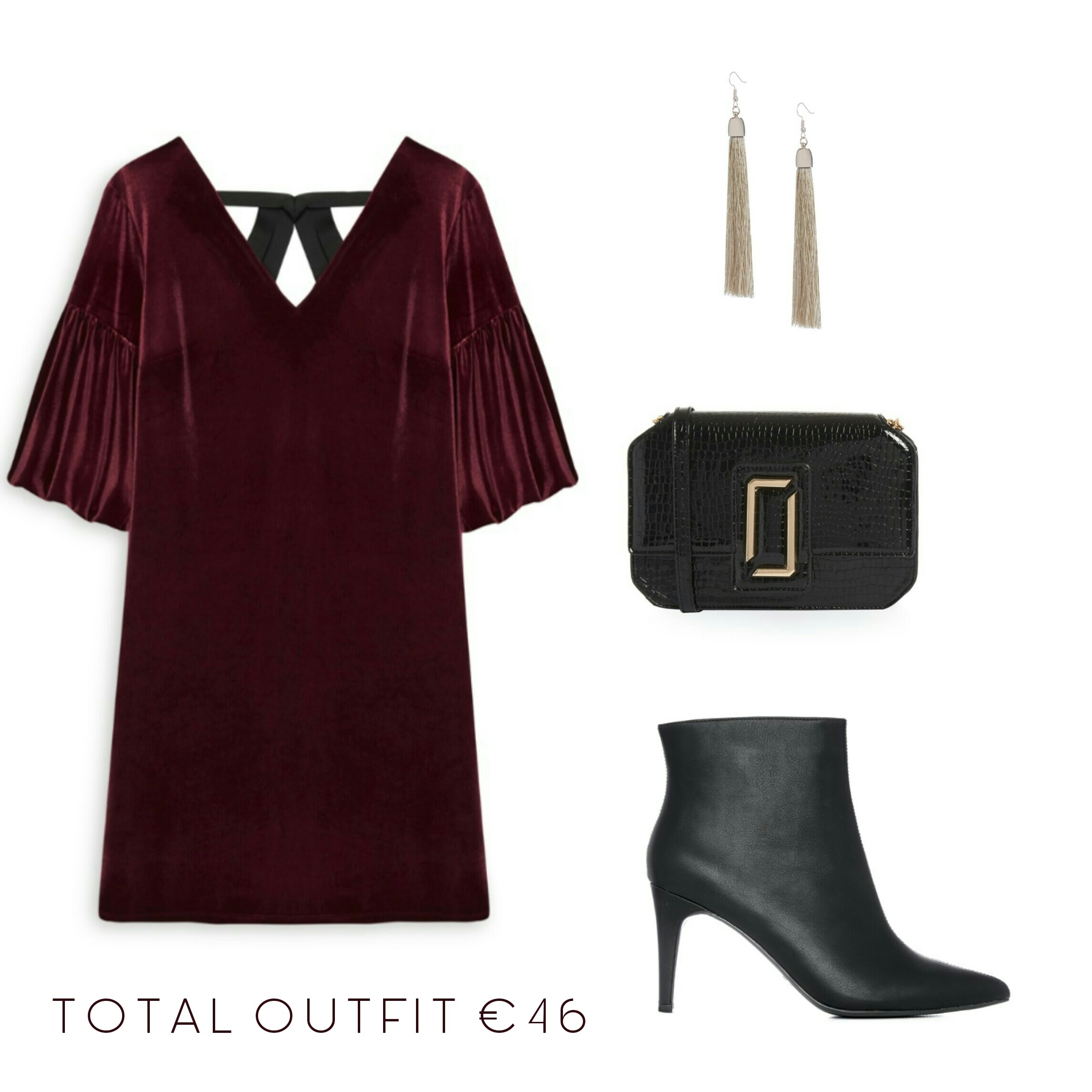 Velvet dress pointed ankle boots