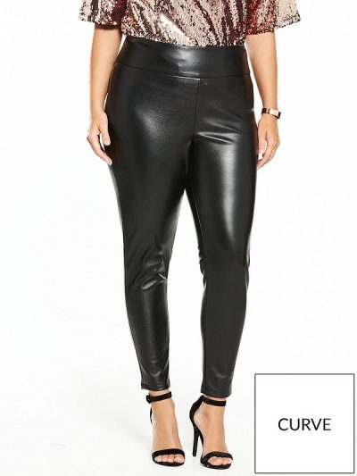 Plus Leather Trousers