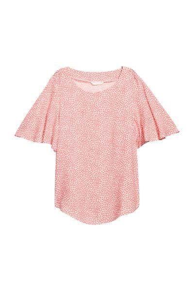 Trumpet Sleeve Pink Top
