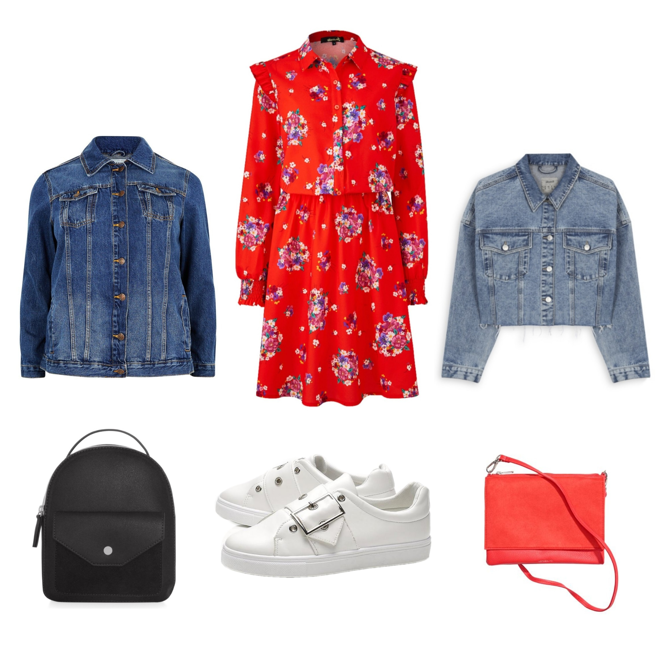 Ways wear Red floral dress