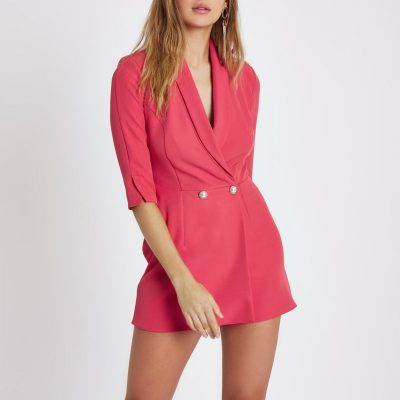 Pink Tux Playsuit