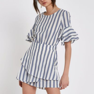 Stripe Skort Playsuit