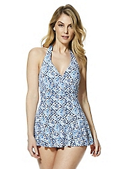 Tile Print Swimdress