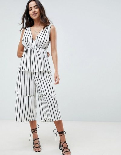 Stripe Tier Jumpsuit