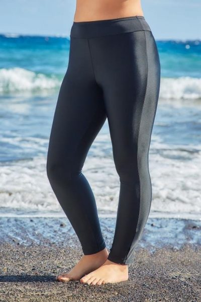 Black Plus Swim Leggings