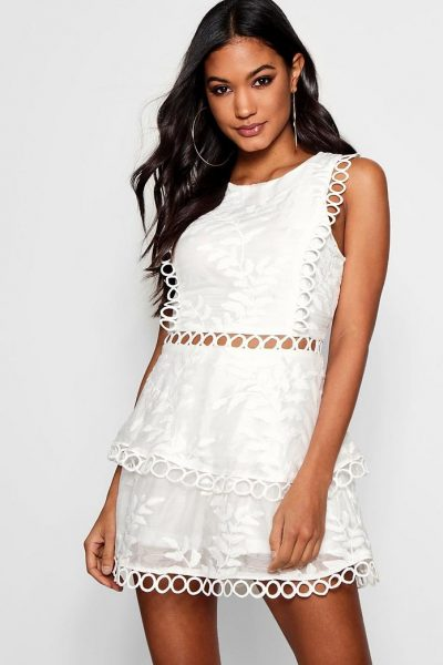 Crochet Overlay Playsuit