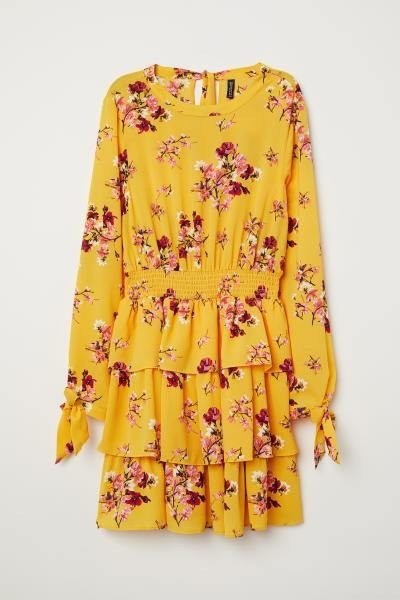 Yellow Flounced Dress