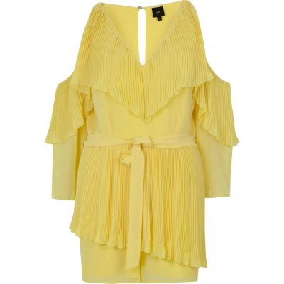Yellow Chiffon Playsuit