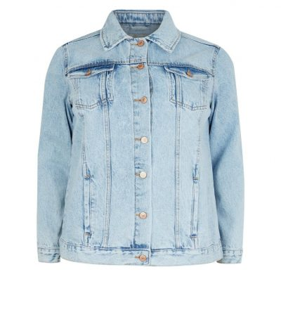 Curves Light Wash Denim Jacket