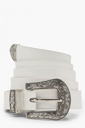 White Plus Western Belt