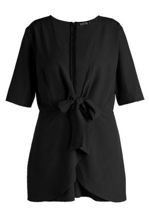 Knot Front Plunge Playsuit