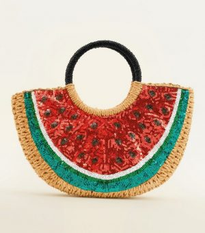 Watermellon Straw Bag