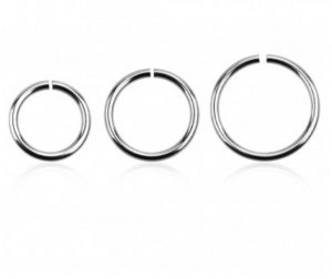Multipurpose piercing ring of sterling silver