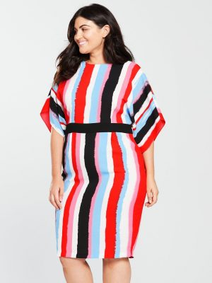 Curve Stripe Pencil Dress