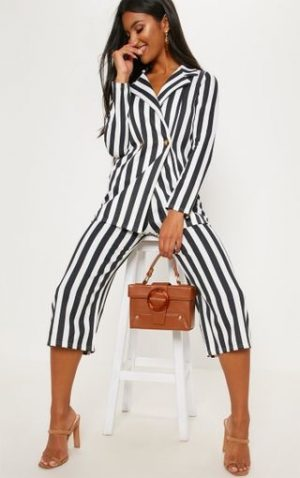 Black Stripe Culottes