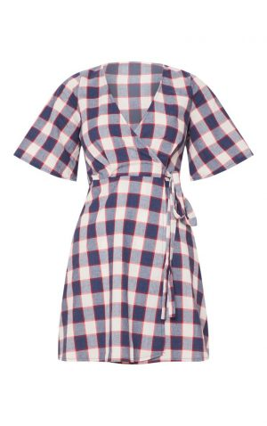 Navy Check Tea Dress