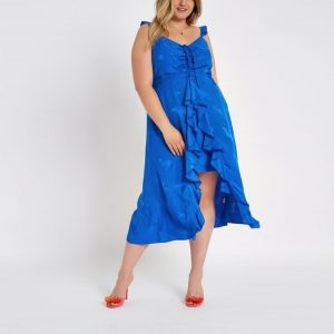 Blue Frill Slip Dress
