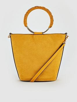 Mustard Ring Bucket Bag