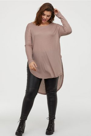 H&M+ Longline long Sleeve Top