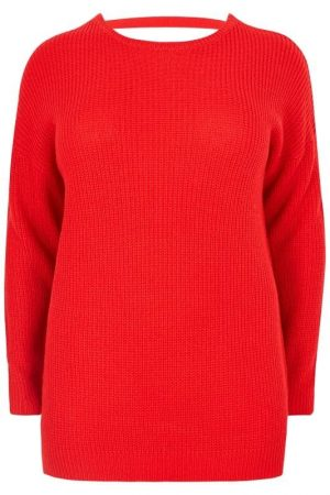 Red Plus Lattice Back Jumper