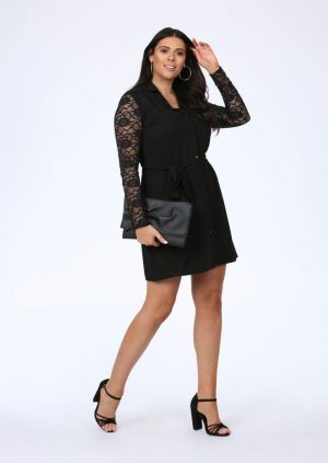 plus tully dress with tie belt