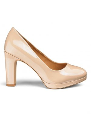 Nude Patent Court Shoe
