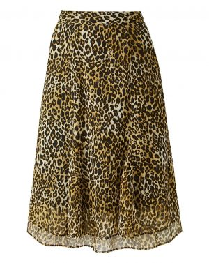 Flippy Leopard Skirt