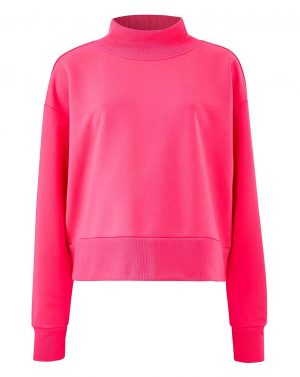 Pink High Neck Sweater
