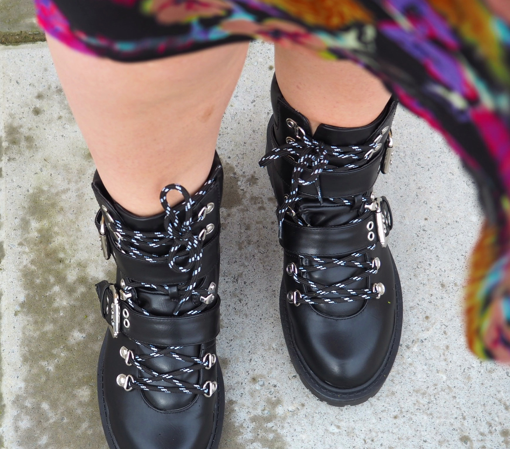 Lace Buckle Boots