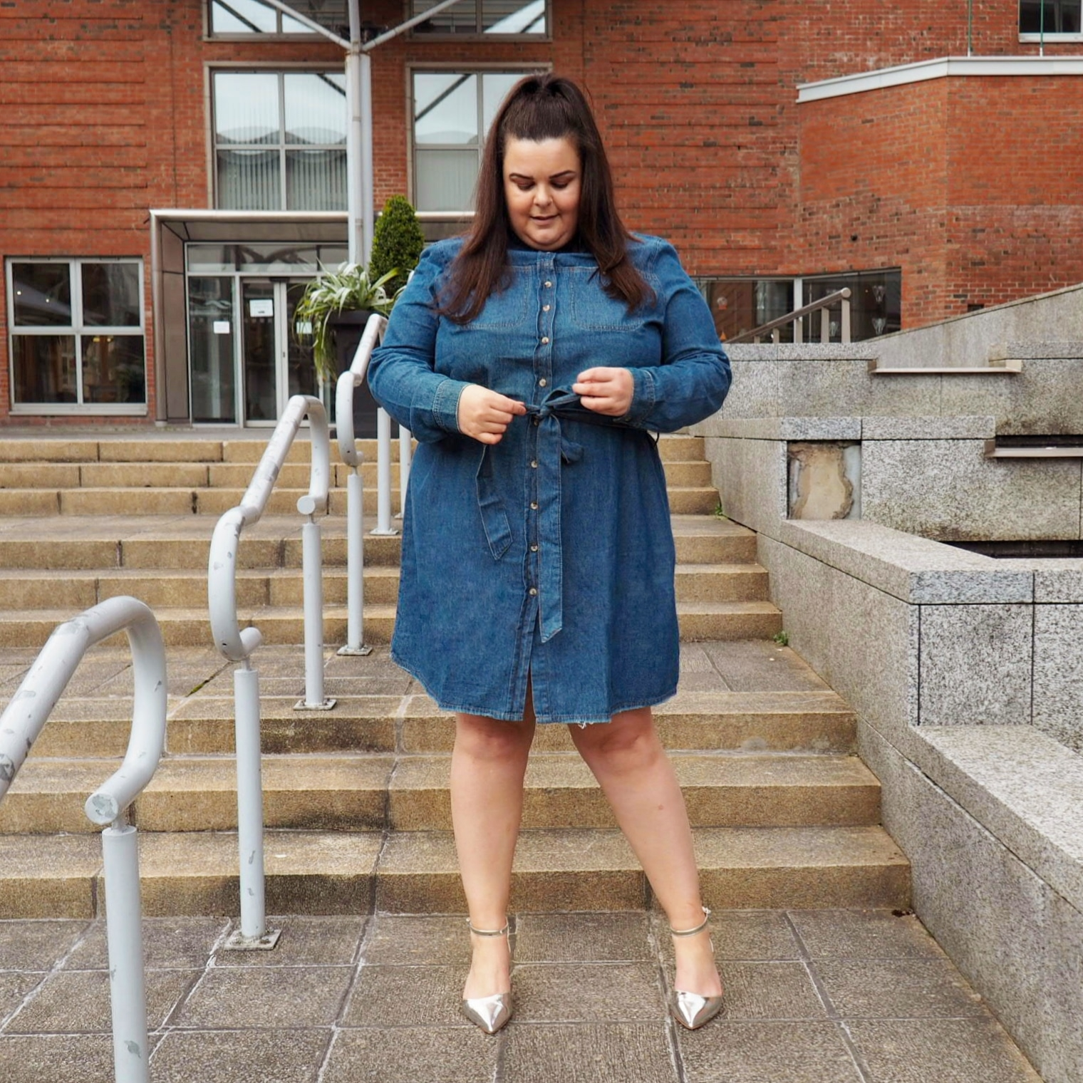 Denim Dress Plus Size