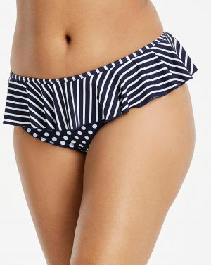 Spot Stripe Frill Bottom