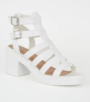 White gladiator platforms