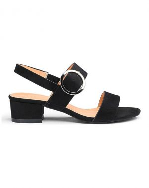 Isabel Low Block Heel Sandal Wide E Fit