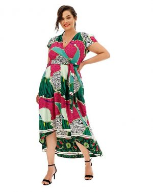 AX Paris Mix Print Wrap Dress