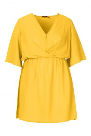 Angel Sleeve Smock Dress
