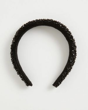 Black Beaded Hairband