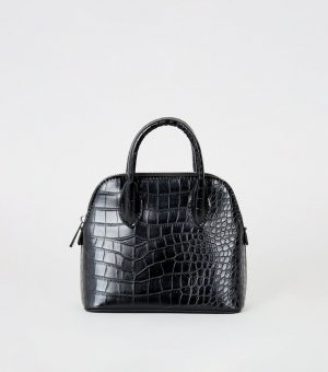 Mini Croc Bowler Bag