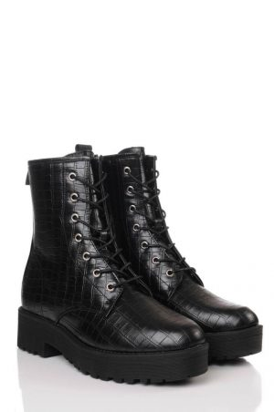 Wide Fit Croc Chunky Boots