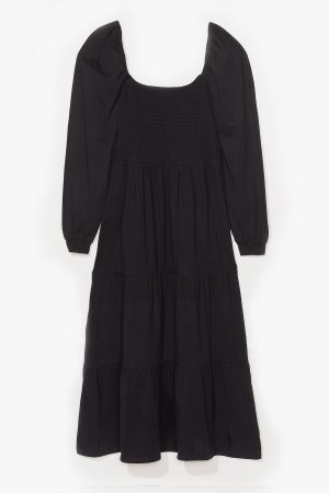 Tiers To The Good Times Plus Puff Maxi Dress