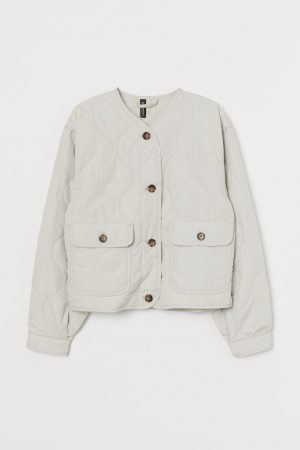 Quilted Jacket Greige