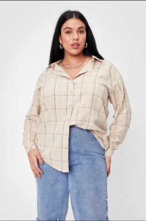 Relaxed Check Plus Size Shirt