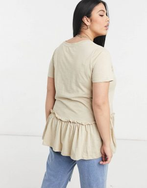 Tiered Tunic In Beige